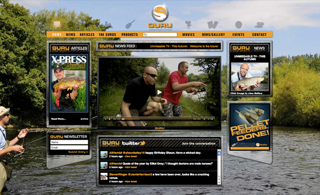 Guru Fishing Tackle Website