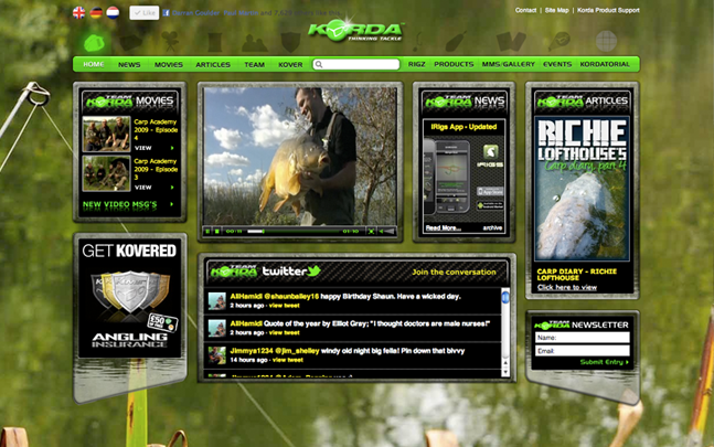 Korda's Carp Fishing Website