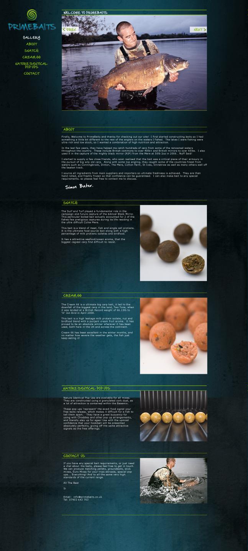 Fishing Bait Website